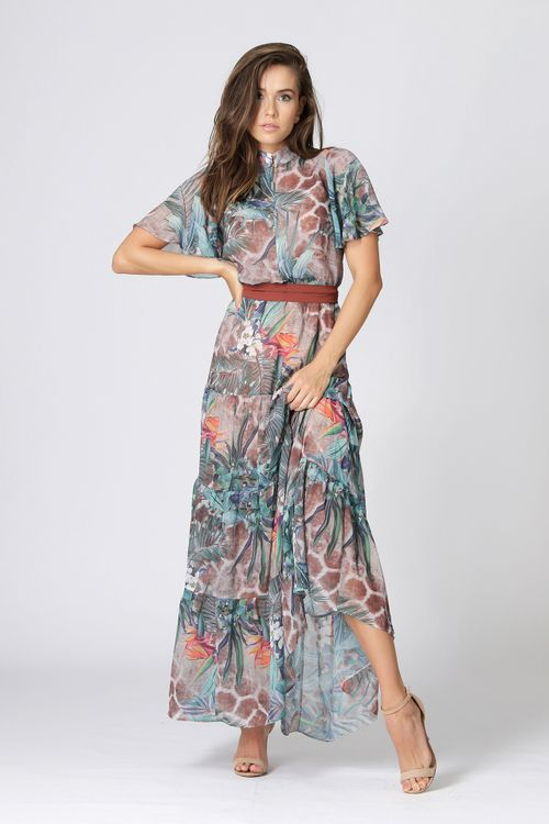 Vestido-Longo-Estampado-com-Franzidos